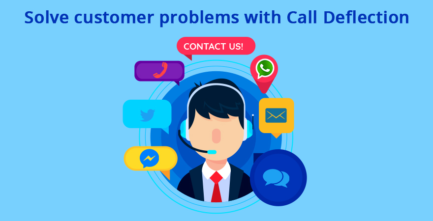 solving customer problems with call deflection
