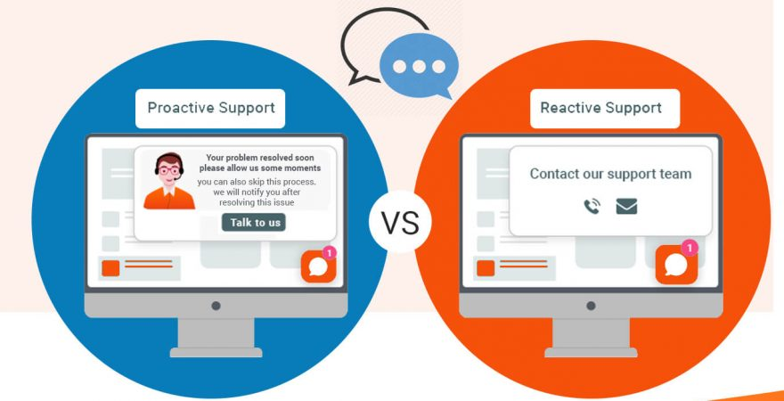 Difference Between Proactive & Reactive live chat support